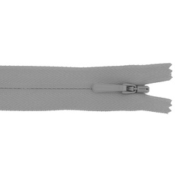 YKK zip 4mm invisible coil soft grey