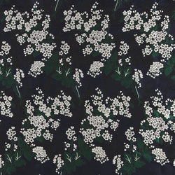 Woven jacquard navy w small flowers