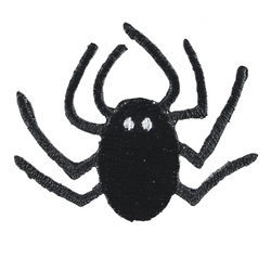 Patch 45x35mm black spider