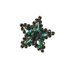 Patch star 45X45mm imit. stone green 1pc
