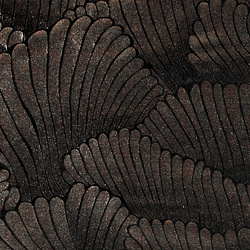 Shiny velour black with copper feather