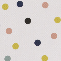 Upholstery light grey w multicolour dots