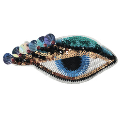 Patch eye 125x60mm turquoise/white 1pc