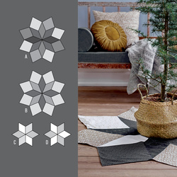 Star rug and flacon in Patchwork