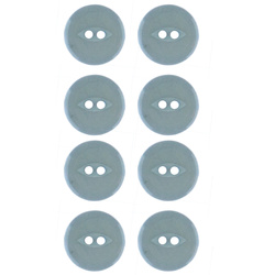 Button 2-holes 18mm dusty blue 8pcs