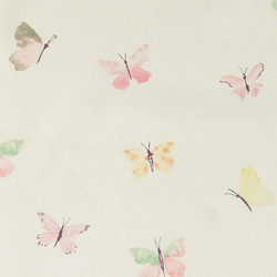 Woven cream with butterflies