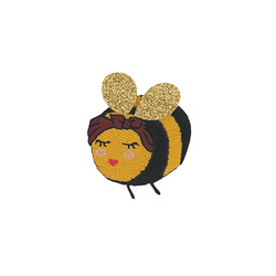 Patch bee 40x45mm mix col. 1pcs