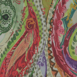 Percale abstract multicolour pattern