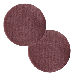 Shank button shiny velour 45mm rouge 2pc