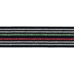 Elastic 35mm blue/red/green/silver 2 m