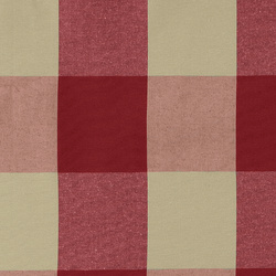 Yarn dyed red/sand big check