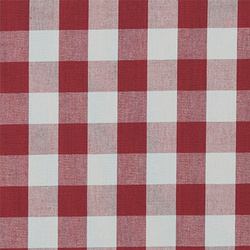 Cotton yarn dyed red/white big check