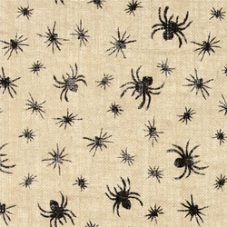 Coarse hessian nature w black spiders