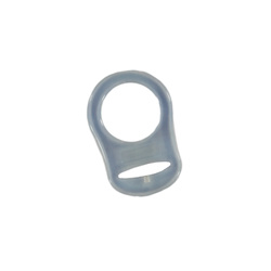 Pacifier chain adapter 32x48mm trans.1pc