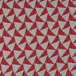 Chiffon nature with red triangles