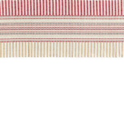 Runner red/white/sand stripe 33 cm