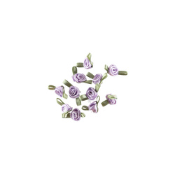 Rose satin small light purple 10 pcs