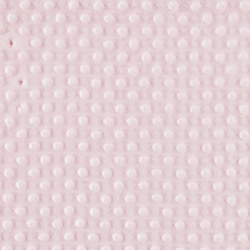 Coral fleece w embossed dots light pink