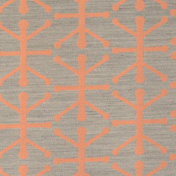 Jacquard brushed melange/melon pattern