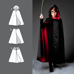 Cape with and without hood