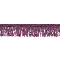 Ribbon fringe 25mm purple/lurex 3m
