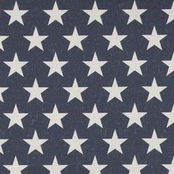 Cotton dark blue w nature stars