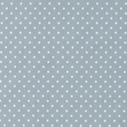 Cotton dusty blue w white dots