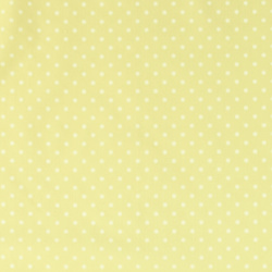 Cotton light yellow with white dots