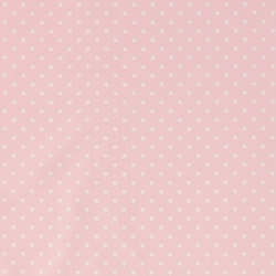 Cotton light pink with white dots