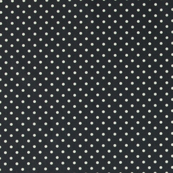 Cotton dark blue with white dots