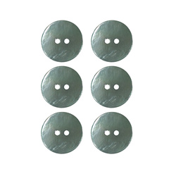 Button 2-holes pearl 20mm green 6pcs