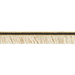 Fransenband, 20mm Natur/Gold Lurex, 2m