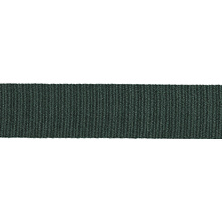 Ribbon woven 32mm dark green 3m