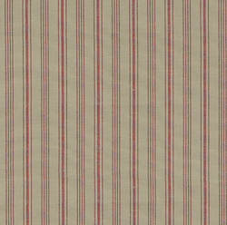 Yarn dyed sand/red striped
