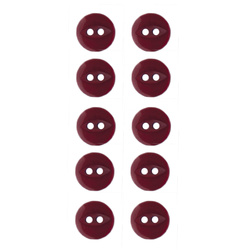 Button 2-holes 10mm lbordeaux 10pcs