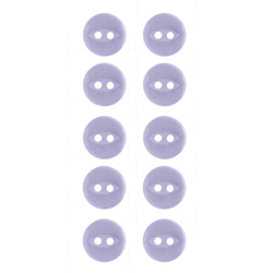 Button 2-holes 10mm light purple 10pcs