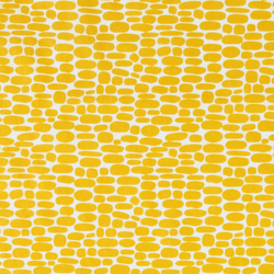 Nonwoven oilcloth white/curry oval dot