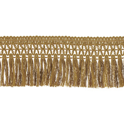 Ribbon fringe 60mm golden 2m