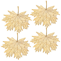 Deco metal leaf 75x70mm gold 4pcs