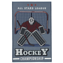 Patch HOCKEY 265X173mm dusty blue 1pc