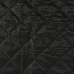Woven quilt black with lining