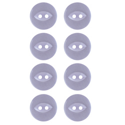 Button 2-holes 18mm light purple 8pcs
