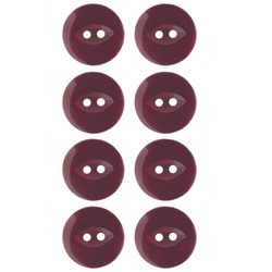 Button 2-holes 18mm bordeaux 8pcs