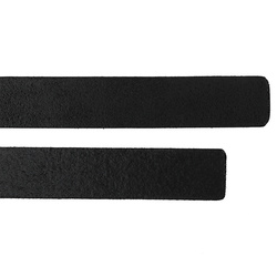 Leather strap 2x60cm black 2pcs