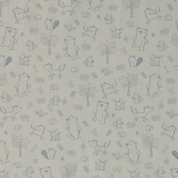 Organic cotton soft blue w animals