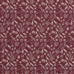 Cotton bordeaux w rose holly