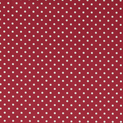 Cotton red with white dots