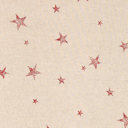 Linen look with red stars