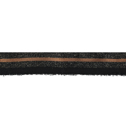 1x1 rib 3,3x100cm brown/black/gold lurex
