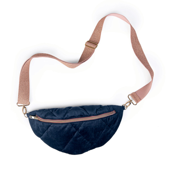 Bum bag navy quilt
